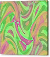 Abstract Waves Painting 007214 Canvas Print