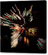 Abstracted Christmas - Luminous Fairy Lights Patterns Canvas Print