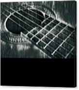 Acoustic Guitar Musician Player Metal Rock Music Black Canvas Print