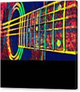 Acoustic Guitar Musician Player Metal Rock Music Color Canvas Print