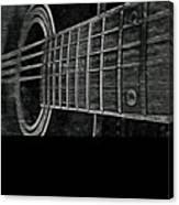 Acoustic Guitar Musician Player Metal Rock Music Strings Canvas Print