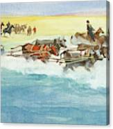 Action From A Ten Thousand Mile Motor Race Canvas Print