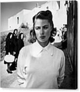 Actress Ingrid Bergman Attracting Canvas Print