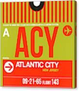Acy Atlantic City Luggage Tag I Canvas Print