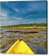 Adventurous Kayak In Maine Canvas Print