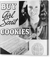 Advertisement Poster For Girl Scout Canvas Print