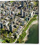 Aerial Of West End, Vancouver Canvas Print