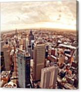 Aerial View Of Downtown Sydney At Canvas Print