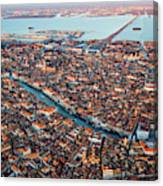 Aerial View Of Grand Canal, Venice, Italy Canvas Print