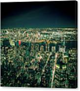 Aerial View Of Manhattan Skyline  Canvas Print
