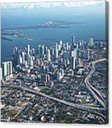 Aerial View Of Miami Canvas Print