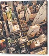 Aerial View Of Midtown Manhattan At Canvas Print