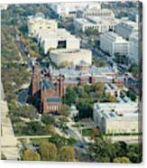 Aerial View Of Museums On The South Side Of The National Mall In Canvas Print