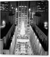 Aerial View Of Rockefeller Center Canvas Print