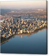 Aerial View Of Stanley Park And Canvas Print