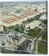 Aerial View Of The Smithsonian National Museum Of African Americ Canvas Print