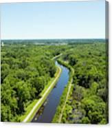 Aerial View Of Vegetation On Landscape Canvas Print
