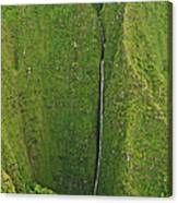 Aerial View Of Waterfall In Narrow Canvas Print