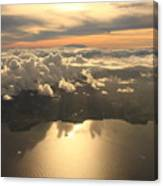 Aerial View Sunset Over Antigua In The Canvas Print