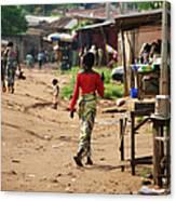 African Street Scene Canvas Print