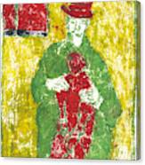 After Billy Childish Painting Otd 23 Canvas Print