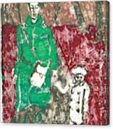 After Billy Childish Painting Otd 45 Canvas Print
