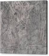 After Billy Childish Pencil Drawing 1 Canvas Print