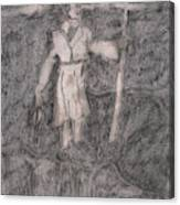 After Billy Childish Pencil Drawing 14 Canvas Print