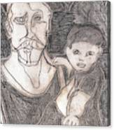 After Billy Childish Pencil Drawing 19 Canvas Print