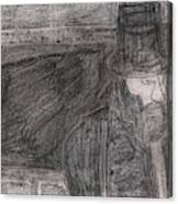 After Billy Childish Pencil Drawing 32 Canvas Print