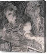 After Billy Childish Pencil Drawing 33 Canvas Print