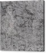 After Billy Childish Pencil Drawing 5 Canvas Print