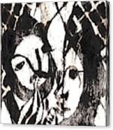 After Mikhail Larionov Black Oil Painting 14 Canvas Print