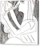 After Mikhail Larionov Pencil Drawing 1 Canvas Print