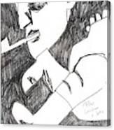 After Mikhail Larionov Pencil Drawing 4 Canvas Print
