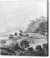 After The Tornado  Pavel Petrovich Svinin 1787 88-1839 Canvas Print