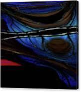 Aile De Papillon Bleu Canvas Print