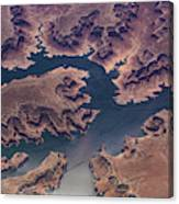 Air View Of Lake Powell Canvas Print
