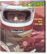 A.j. Foyt, 1981 Indy 500 Qualifying Sports Illustrated Cover Canvas Print