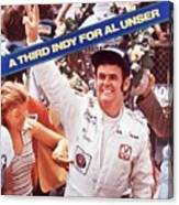 Al Unser, 1978 Indy 500 Sports Illustrated Cover Canvas Print