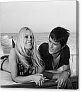 Alain Delon And Brigitte Bardot In Canvas Print