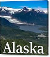 Alaska - Mendenhall Glacier And Auke Lake Canvas Print