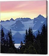 Alaska's Kenai Mountains At Dawn Canvas Print