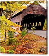 Albany Covered Bridge Near Conway, New Canvas Print