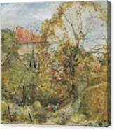 Alexander Fraser, The Younger, October's Workmanship To Rival May Canvas Print