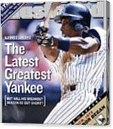 Alfonso Soriano The Latest Greatest Yankee Sports Illustrated Cover Canvas Print