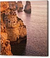 Algarve Coastline, Lagos, Portugal Canvas Print