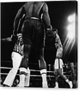 Ali Beats Forman In Kinshasa Canvas Print