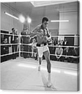 Ali In Training Canvas Print