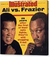 Ali Vs Frazier, 25 Years Later Sports Illustrated Cover Canvas Print